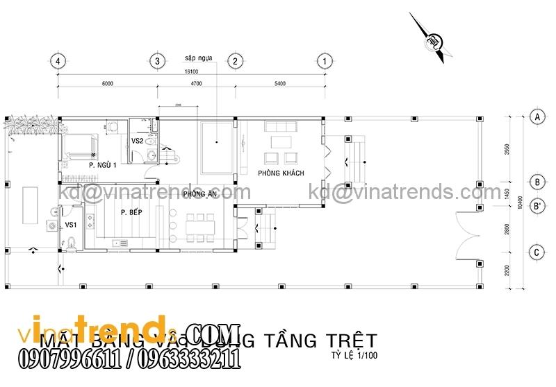 mb 2 Thiết kế nhà vườn 2 tầng ở nông thôn 170m2 hiện đại tuyệt vời   NO121214B