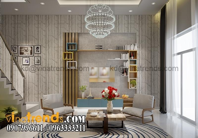 thiet ke noi that mau nha pho dep 3 tang dien tich 5x167m 12 Thiết kế nhà phố hiện đại 5x16,7m 3 tầng đẹp đánh thức mọi giác quan   NP070715C