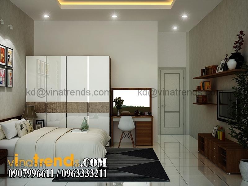 thiet ke noi that mau nha pho dep 3 tang dien tich 5x167m 13 Thiết kế nhà phố hiện đại 5x16,7m 3 tầng đẹp đánh thức mọi giác quan   NP070715C