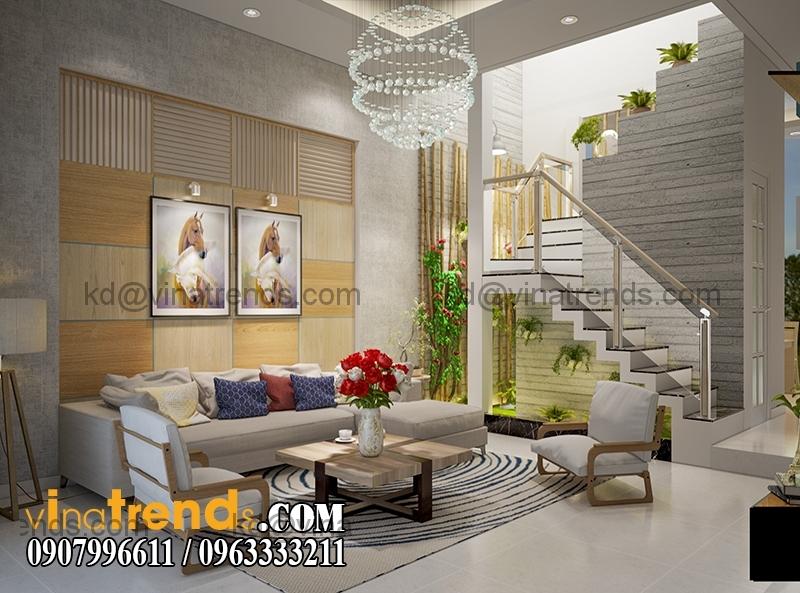 thiet ke noi that mau nha pho dep 3 tang dien tich 5x167m 9 Thiết kế nhà phố hiện đại 5x16,7m 3 tầng đẹp đánh thức mọi giác quan   NP070715C