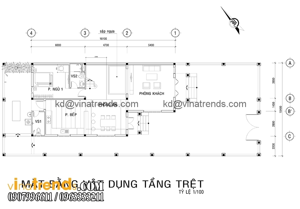 ban ve biet thu 2 tang dep 1 Mẫu thiết kế biệt thự nhà vườn 2 tầng 160m2 đẹp quá xá đẹp   BTV070815A
