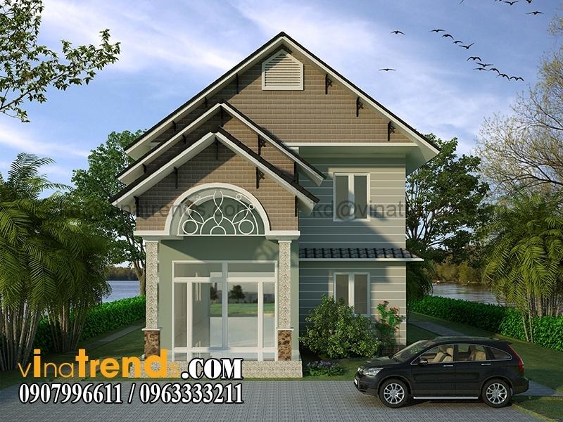 biet thu 2 tang 8x16m 5 Mẫu nhà vườn 2 tầng đẹp 135m2 anh Dũng Đồng Nai   BTNV190815A
