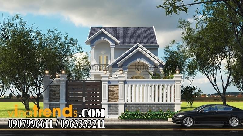 biet thu 2 tang mai thai 1 Mẫu thiết kế biệt thự nhà vườn 2 tầng 160m2 đẹp quá xá đẹp   BTV070815A