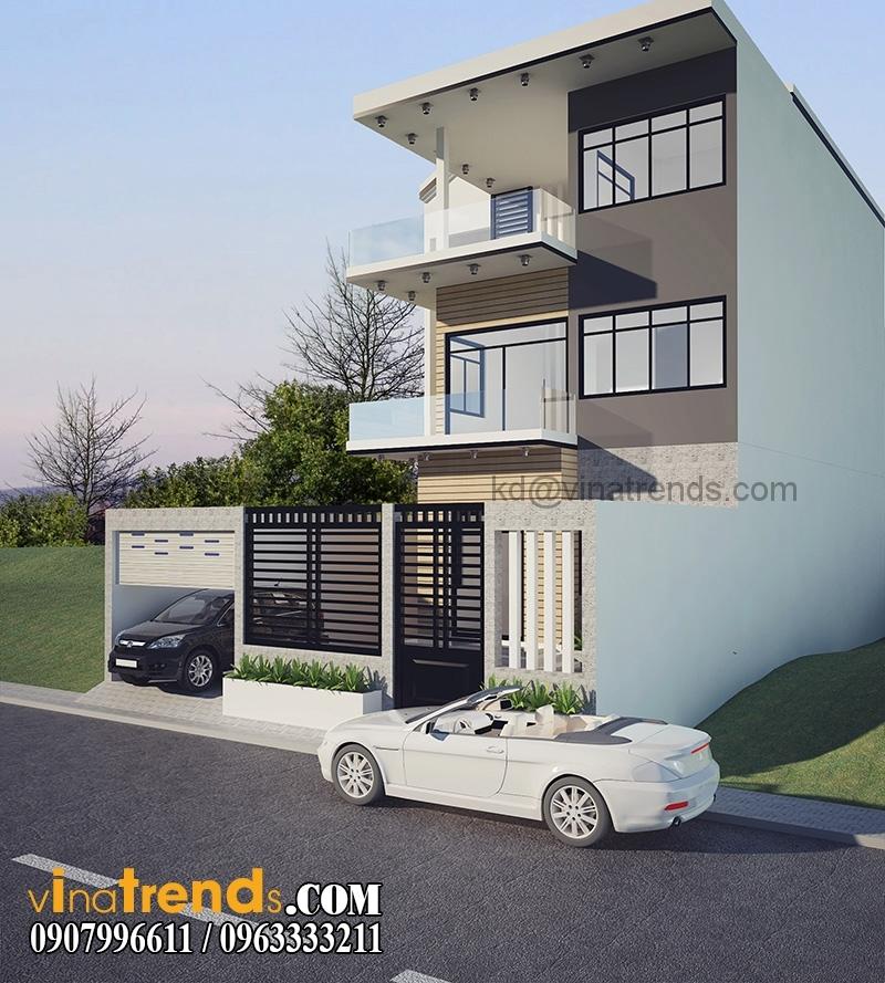 biet thu pho 3 tang 200m 5 Thiết kế biệt thự mini 2 tầng đẹp 10x20m sáng tạo chính là nghệ thuật   BTMN080815A