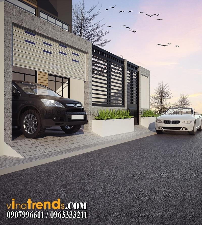 biet thu pho 3 tang 200m 6 Thiết kế biệt thự mini 2 tầng đẹp 10x20m sáng tạo chính là nghệ thuật   BTMN080815A