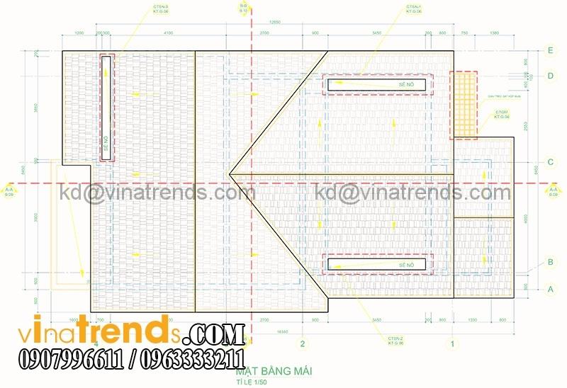 mat bang biet thu pho 2 tang 845x165m 1 Xinh xắn mẫu thiết kế biệt thự mini 2 tầng 8,5x16,5m đẹp và lạ phong cách mới   BT050815A