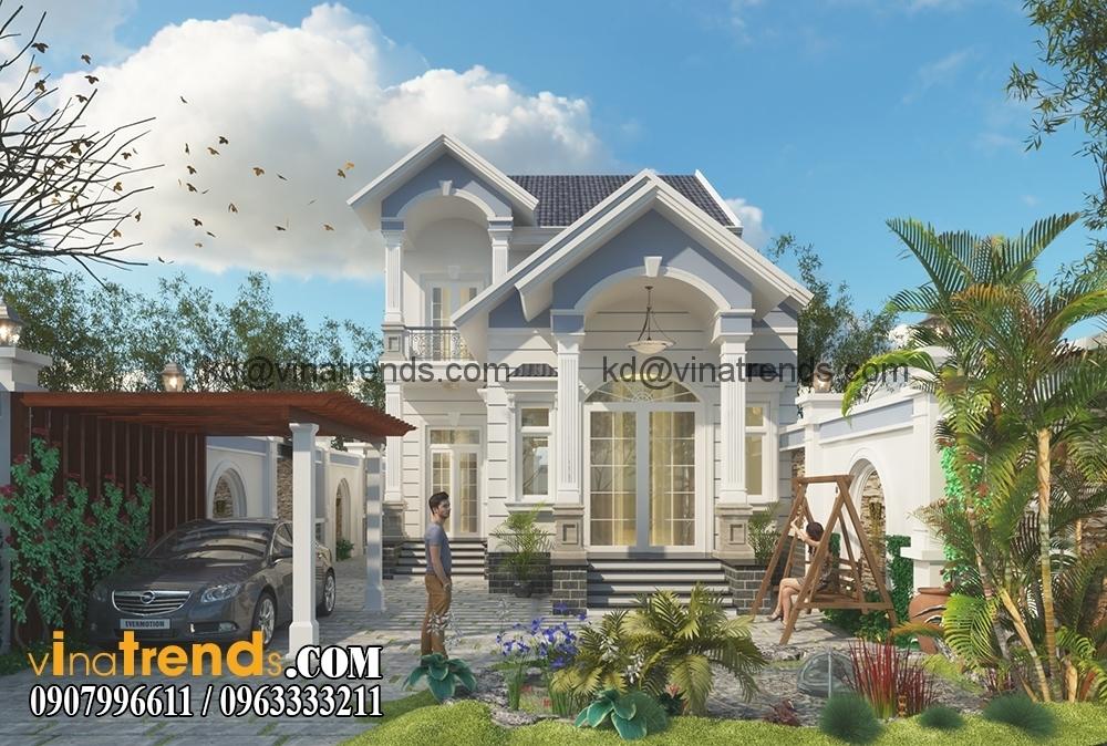 mau biet thu san vuon 1 tret 1 lau dep 2 Thiết kế biệt thự nhà vườn đẹp mới nhất   BTV110714B