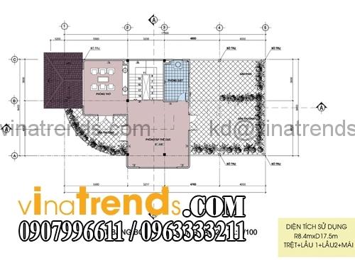 tang 2 Thiết kế biệt thự 2 mặt tiền đẹp 8x18m chất lượng cuộc sống   BT110815A