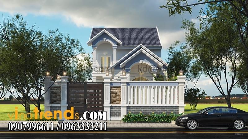 A 2 Mê mệt mẫu thiết kế biệt thự 2 tầng 160m2 anh Minh ở Bình Phước   BT150915A