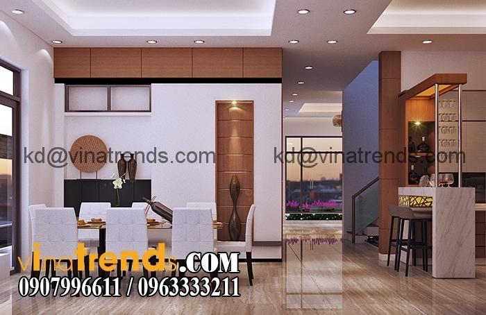 Phong bep 2 Mẫu biệt thự 3 tầng đẹp 12x30m sang trọng tinh tế của anh Hoan Đồng Nai BT310316A