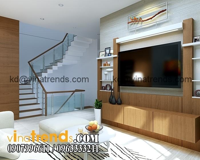 Phong sinh hoat 4 Chia sẻ mẫu thiết kế biệt thự 3 tầng hiện đại có hồ bơi chú Tuấn   Nha Trang   BT080915A