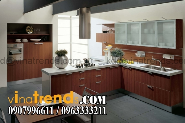 Thiet ke bep an phong an 9 Khái niệm thiết kế nội thất đẹp hiện đại cảm hứng là nghệ thuật chị Thoa Gò Vấp   NT210915A
