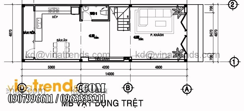 ban ve mat bang mau nha pho dep dien tich 487x14m 2 Độc lạ mẫu thiết kế nhà phố hiện đại 3 tầng : 4,87x14m cực sáng tạo   NP030915A