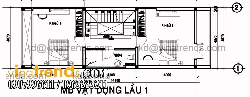 ban ve mat bang mau nha pho dep dien tich 487x14m 3 Độc lạ mẫu thiết kế nhà phố hiện đại 3 tầng : 4,87x14m cực sáng tạo   NP030915A