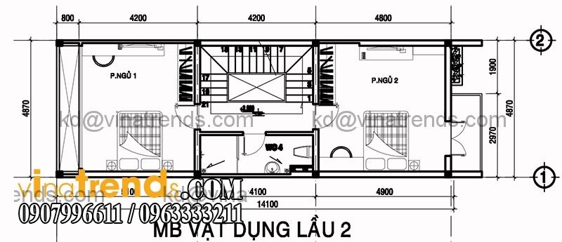 ban ve mat bang mau nha pho dep dien tich 487x14m 4 Độc lạ mẫu thiết kế nhà phố hiện đại 3 tầng : 4,87x14m cực sáng tạo   NP030915A