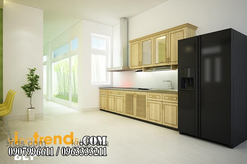 bep Mãn nhãn mẫu thiết kế biệt thự 2 tầng hiện đại anh Khoa   Bình Chánh   BT050915A