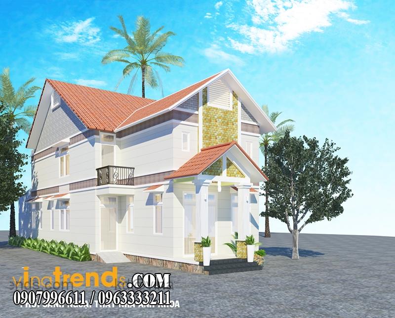 biet thu 2 tang 132m2 2 Thiết kế biệt thự vườn 1 tầng ngập tràn sắc xanh   BTV180714B