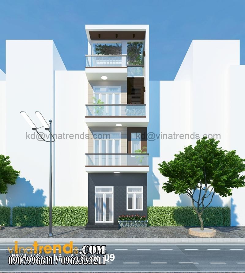 mt 1 Độc lạ mẫu thiết kế nhà phố hiện đại 3 tầng : 4,87x14m cực sáng tạo   NP030915A
