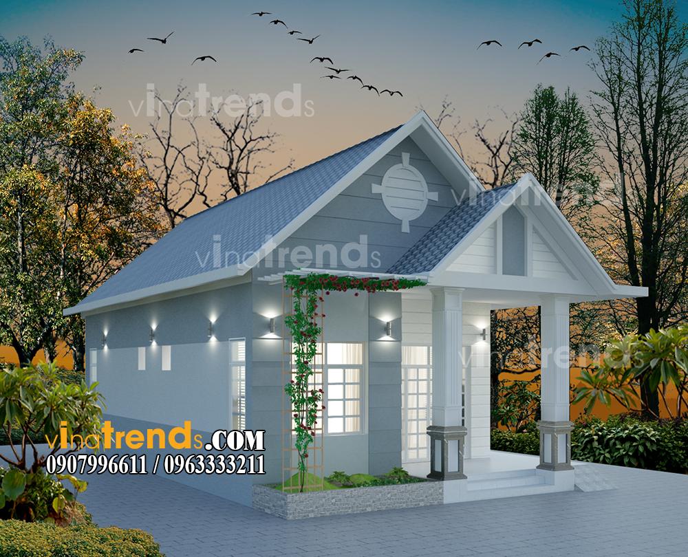mau nha 1 tang mai thai dep mat tien 8x13m 4 Thiết kế nhà đẹp cấp 4 mái thái hiện đại 8x13m phong cách mới 2016 anh Võng Đồng Nai   NC4211015A