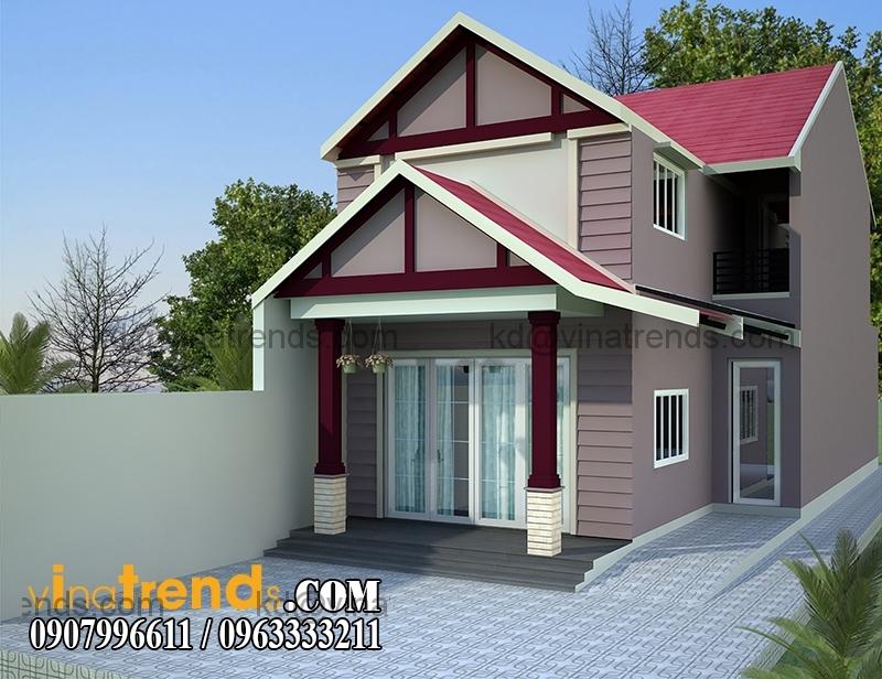 mau nha cap 4 co gac dien tich 65x166m hien dai 3 BST thiết kế nhà đẹp cấp 4 độc đáo mới lạ nhất Việt Nam   BST041014A