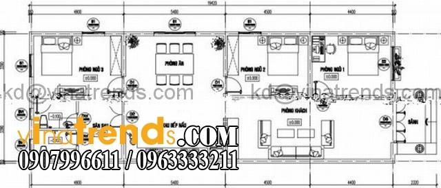 mau nha cap 4 mai ngoi dep 7x20m Mẫu thiết kế nhà cấp 4 đẹp 7x20m mái thái xu hướng 2016 anh Huy Đồng Nai   NC4201015