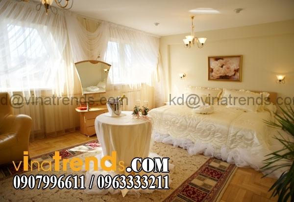 mau trung tinh Thiết kế nội thất phòng ngủ cưới với những tone màu thêm phần lãng mạn   NT171015A