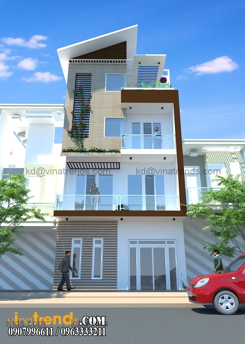 thiet ke nha o 3 tang dep 6x6m 3 Mẫu nhà phố mặt tiền đẹp 3 tầng sốt nhất hiện nay   NP170714A