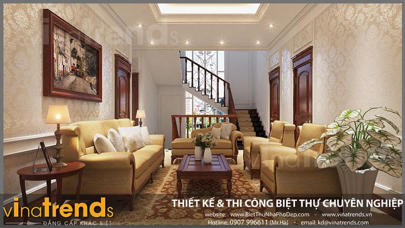 thiet ke phong sinh hoat chung dep Ngắm nhìn mẫu thiết kế nhà đẹp 133m2 của gia đình 3 thế hệ anh Bằng Bình Dương   ND051015A