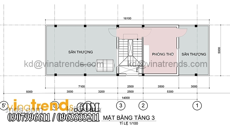 ban ve mau nha pho dep 3 tang dien tich mat tien ngang 5m hien dai 3 Chiêm ngưỡng mẫu thiết kế nhà phố xinh xắn 5x16,7m anh Dương Đồng Nai   NP071115A
