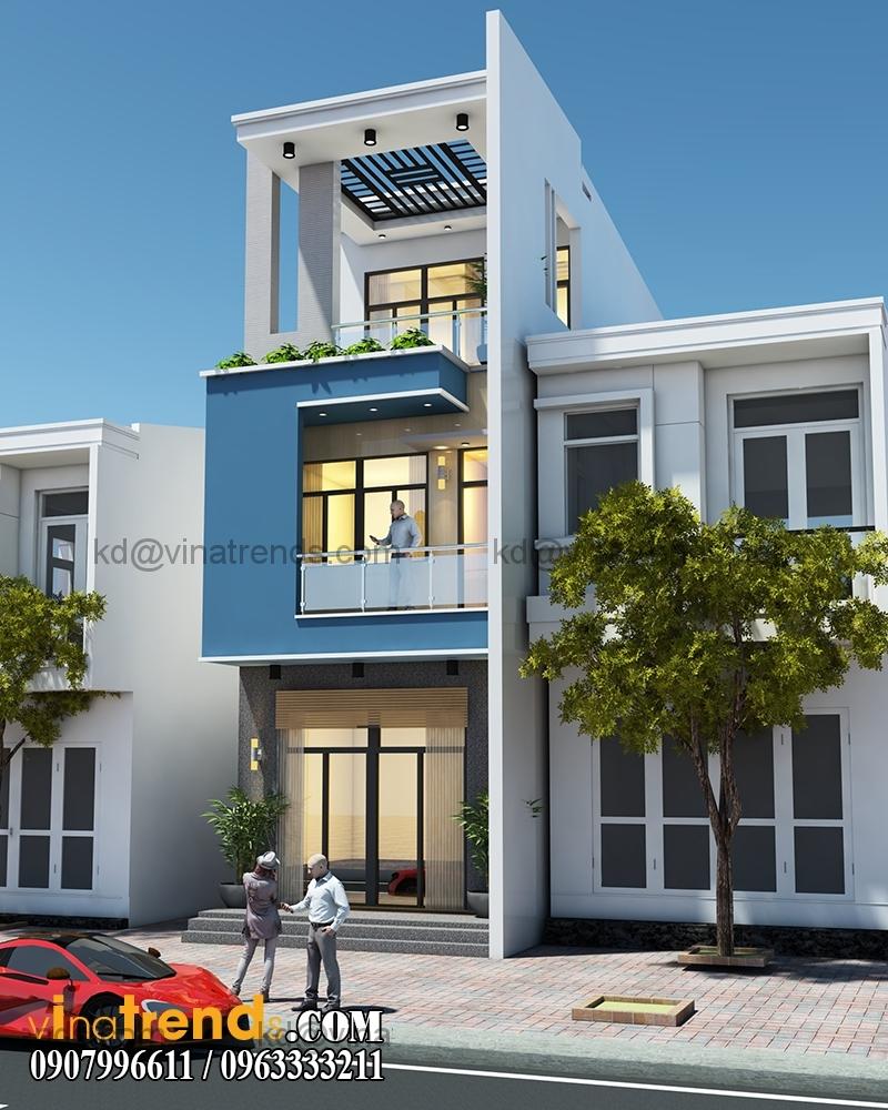 thiet ke nha pho 3 tang hien dai dien tich 5x167m 3 Chiêm ngưỡng mẫu thiết kế nhà phố xinh xắn 5x16,7m anh Dương Đồng Nai   NP071115A