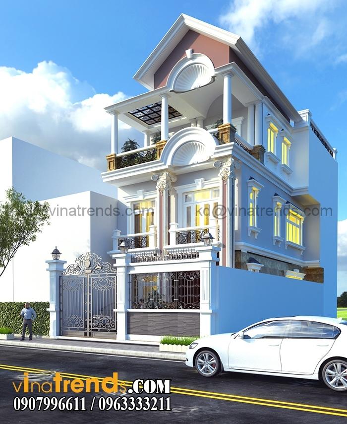 biet thu pho 3 tang dep 7x20m 1 Mẫu thiết kế kiến trúc nhà đẹp xu thế mới 2015 2016