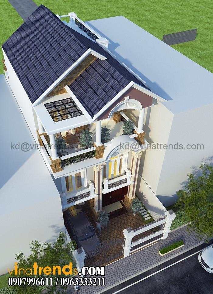 biet thu pho 3 tang dep 7x20m 2 Mẫu thiết kế kiến trúc nhà đẹp xu thế mới 2015 2016