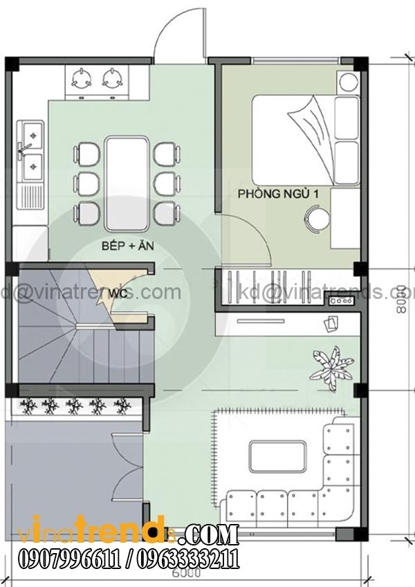 55 Chia sẻ mẫu thiết kế nhà ở gia đình 3 tầng đẹp 6x6m chị Vũ Bình Thạnh lung linh sắc xuân   BT300116A