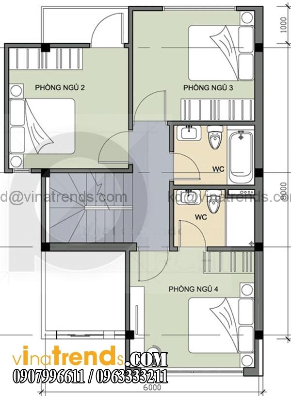 56 Chia sẻ mẫu thiết kế nhà ở gia đình 3 tầng đẹp 6x6m chị Vũ Bình Thạnh lung linh sắc xuân   BT300116A