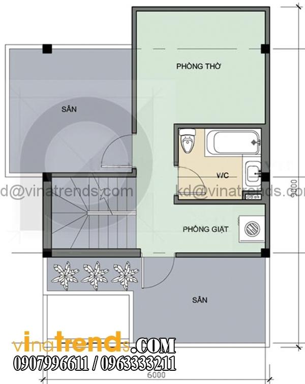 57 Chia sẻ mẫu thiết kế nhà ở gia đình 3 tầng đẹp 6x6m chị Vũ Bình Thạnh lung linh sắc xuân   BT300116A