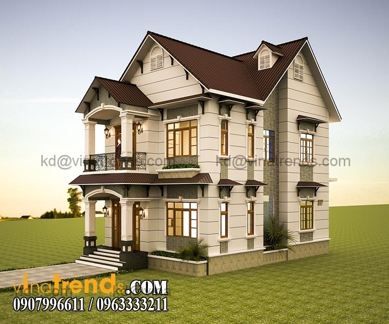 PA 2 7 Mãn nhãn mẫu thiết kế biệt thự đẹp 2 tầng chú Thọ Bình Dương   BT130116A