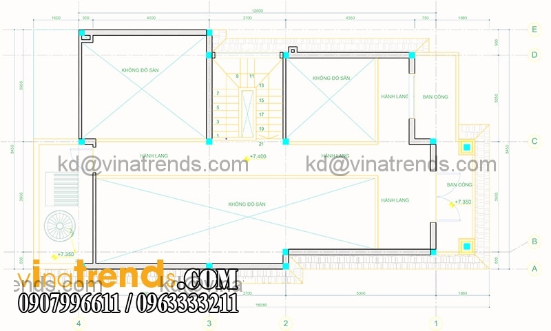 mat bang biet thu pho 2 tang hien dai 136m2 3 Mãn nhãn mẫu thiết kế biệt thự đẹp 2 tầng chú Thọ Bình Dương   BT130116A