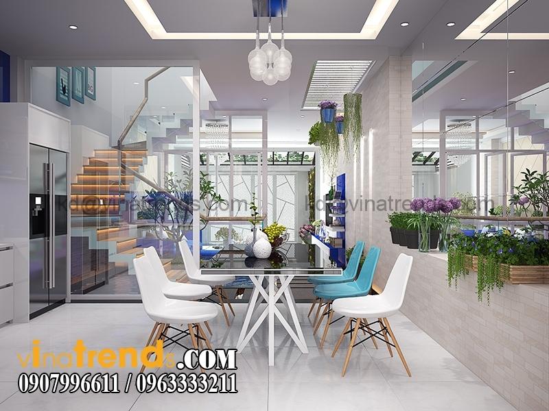 BEP 2 Mẫu nhà phố đẹp 4 tầng 5x20m kiến trúc hiện đại anh Phương Bình Chánh   NP240216A