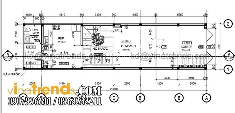 ban ve mat bang mau nha pho dep 4 tang 5x20m dep 2 Mẫu nhà phố đẹp 4 tầng 5x20m kiến trúc hiện đại anh Phương Bình Chánh   NP240216A