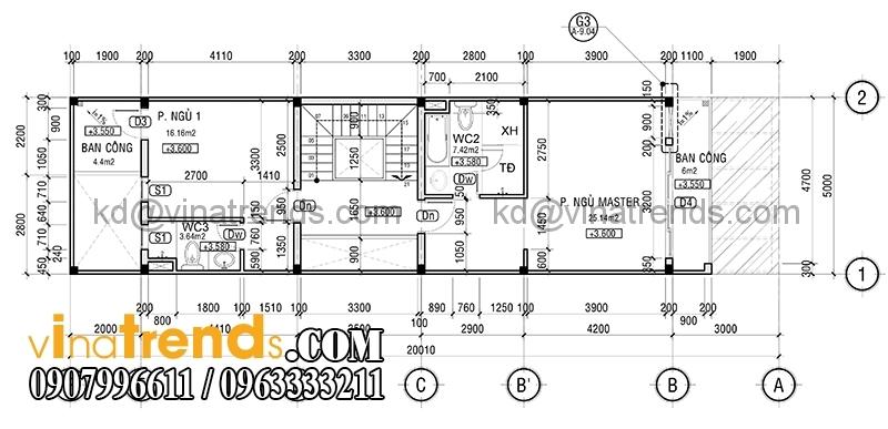 ban ve mat bang mau nha pho dep 4 tang 5x20m dep 3 Mẫu nhà phố đẹp 4 tầng 5x20m kiến trúc hiện đại anh Phương Bình Chánh   NP240216A