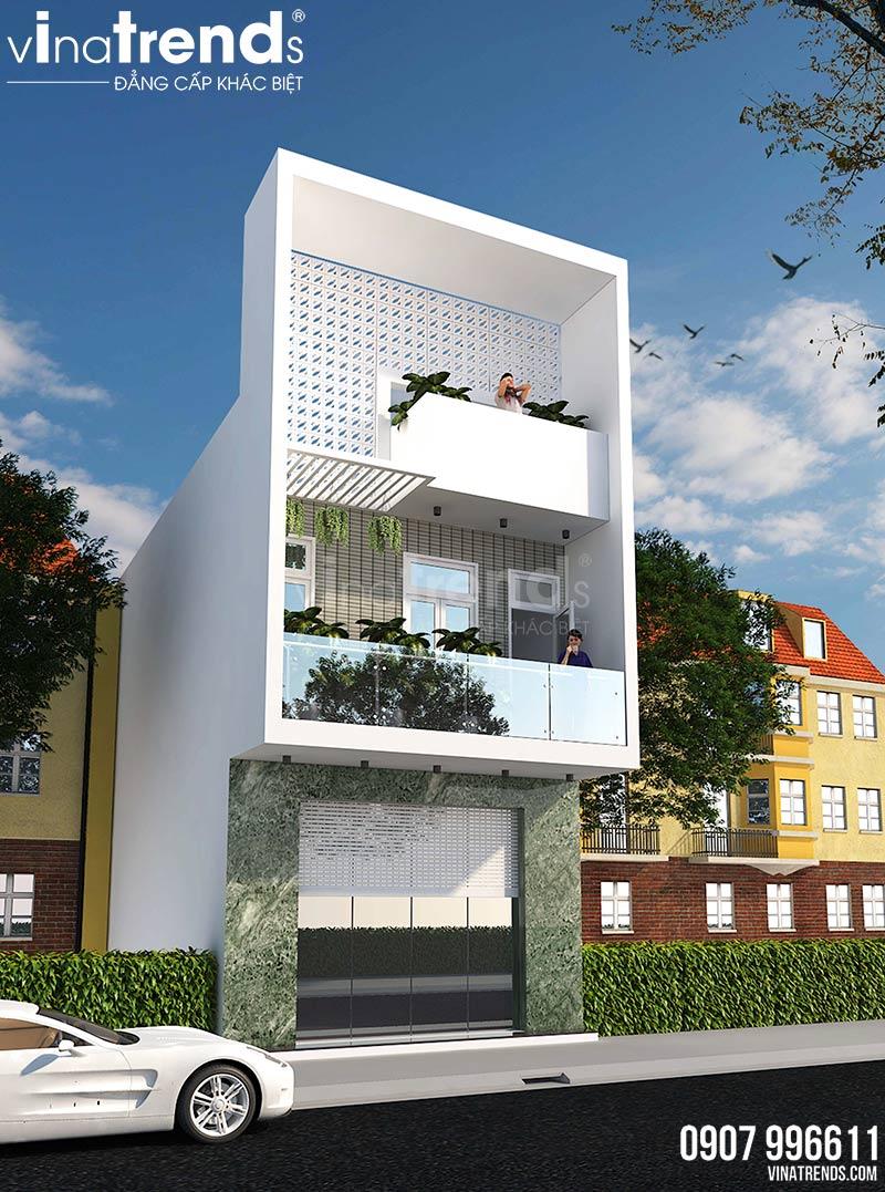mau nha 2 tang co san thuong mat tien 4m dep 4 Mẫu nhà 2 tầng đơn giản có sân thượng như nhà 3 tầng mặt tiền 4m