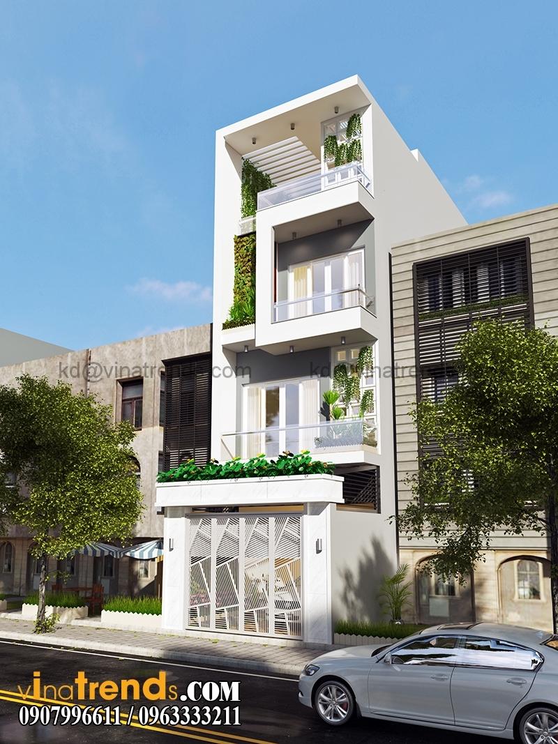 mau nha pho dep 4 tang 5x20m hien dai 3 Mẫu nhà phố đẹp 4 tầng 5x20m kiến trúc hiện đại anh Phương Bình Chánh   NP240216A