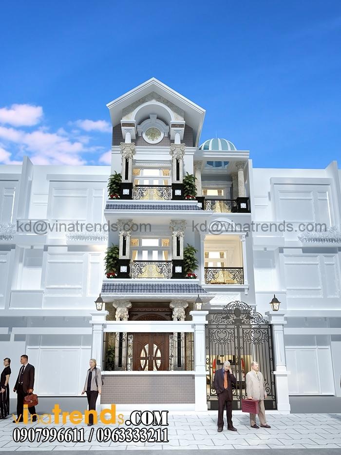 biet thu pho co dien 2 tang dep 1 Thiết kế biệt thự tân cổ điển Pháp 4 tầng 7x15m kiêu sa tráng lệ anh Ẩn Quận 12   BTCD090316A