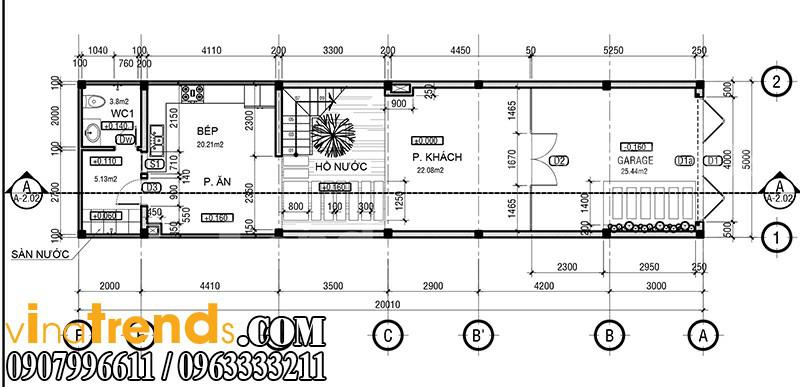 m 1 Mẫu nhà mặt phố đẹp 3 tầng 5x20m đẳng cấp Việt anh Phương Bình Chánh   NP040316A