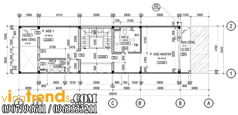 m 2 Mẫu nhà mặt phố đẹp 3 tầng 5x20m đẳng cấp Việt anh Phương Bình Chánh   NP040316A