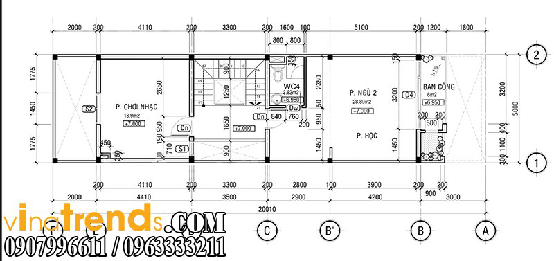 m 3 Mẫu nhà mặt phố đẹp 3 tầng 5x20m đẳng cấp Việt anh Phương Bình Chánh   NP040316A