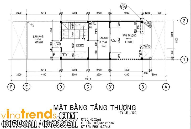 m 4 Mẫu nhà mặt phố đẹp 3 tầng 5x20m đẳng cấp Việt anh Phương Bình Chánh   NP040316A