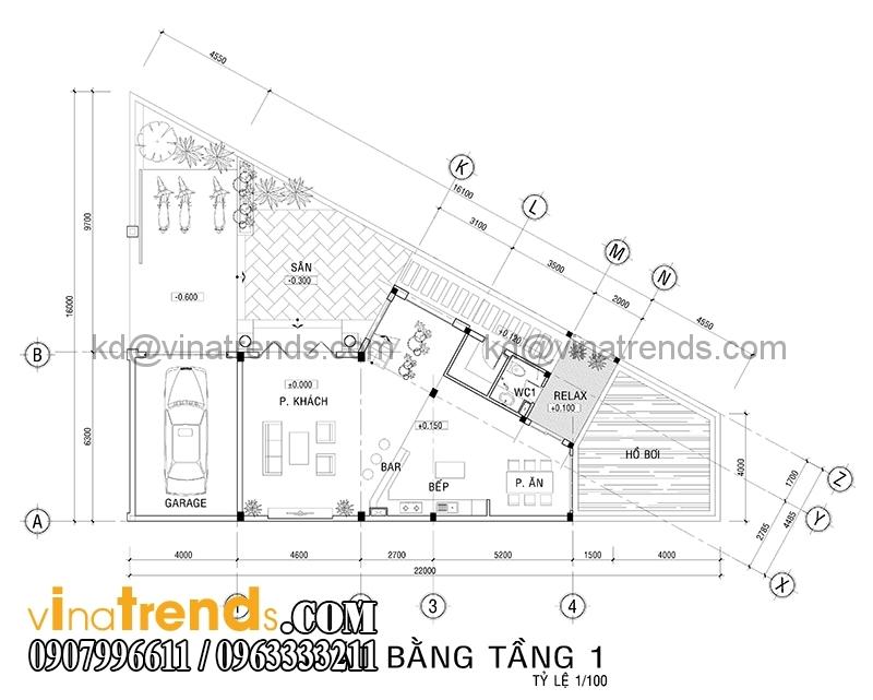 mat bang biet thu mat tien 7m 3 Mẫu thiết kế biệt thự đẹp 3 tầng 7m mặt tiền đẹp mê hồn anh Quảng Long Thành   BT030316A