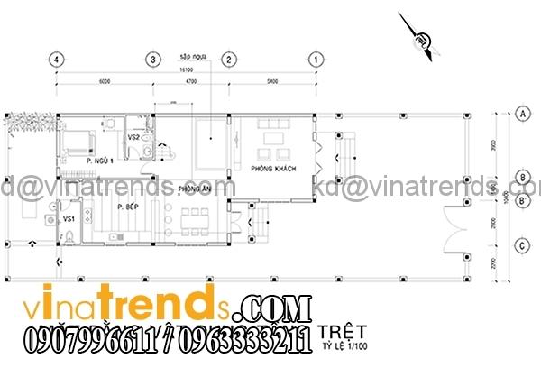 mb 10x142 Mẫu biệt thự đẹp phong cách hiện đại 1 trệt 1 lững 10x16m anh Minh Bình Phước   BTHD070316A