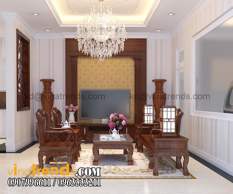 noi that biet thu 3 tang tan co dien dep 19 Mẫu thiết kế biệt thự đẹp 3 tầng 7m mặt tiền đẹp mê hồn anh Quảng Long Thành   BT030316A